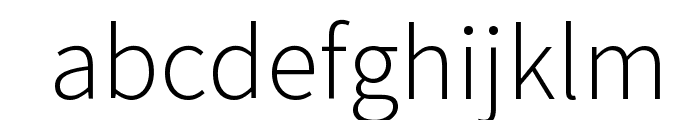 Source Sans Pro Light Font LOWERCASE