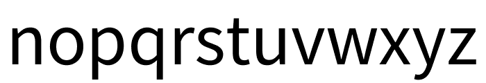 Source Sans Pro Regular Font LOWERCASE