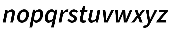 Source Sans Pro Semibold Italic Font LOWERCASE