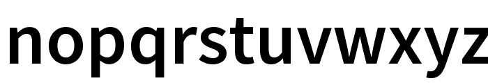 Source Sans Pro Semibold Font LOWERCASE