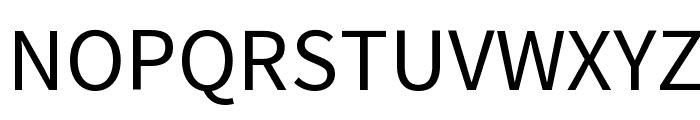 Source Sans Pro Font UPPERCASE