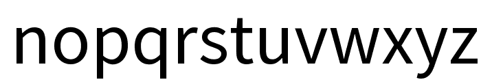 Source Sans Pro Font LOWERCASE