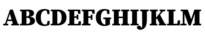 Source Serif Pro Black Font UPPERCASE