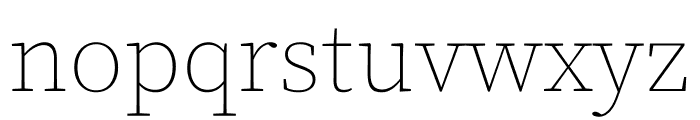 Source Serif Pro ExtraLight Font LOWERCASE