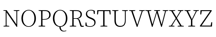 Source Serif Pro Light Font UPPERCASE