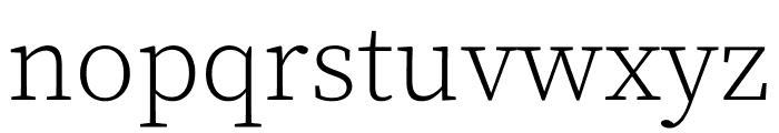 Source Serif Pro Light Font LOWERCASE