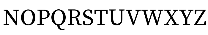Source Serif Pro Regular Font UPPERCASE