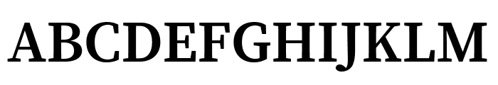 Source Serif Pro SemiBold Font UPPERCASE