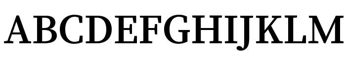 Source Serif Pro Semibold Regular Font UPPERCASE