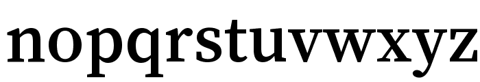 Source Serif Pro Semibold Regular Font LOWERCASE
