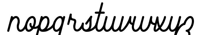 Southfilla Monoline Script Font Font LOWERCASE