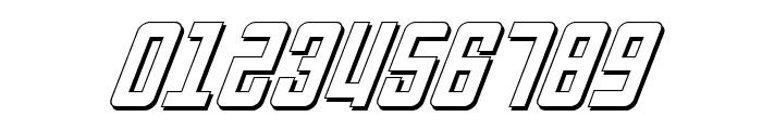 Soviet 3D Italic Font OTHER CHARS