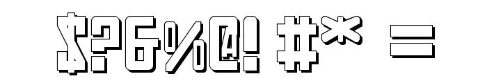 Soviet 3D Font OTHER CHARS