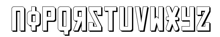 Soviet 3D Font LOWERCASE