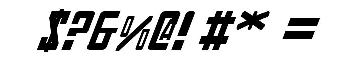 Soviet Italic Font OTHER CHARS