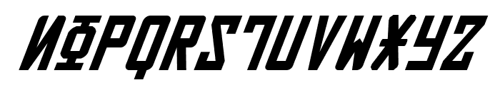 Soviet Italic Font UPPERCASE