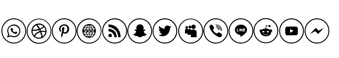 social media two Font UPPERCASE