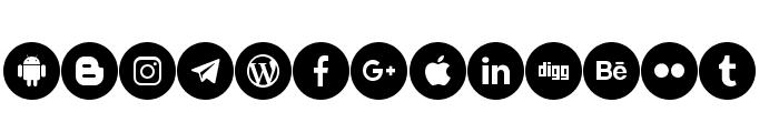 social media two Font LOWERCASE