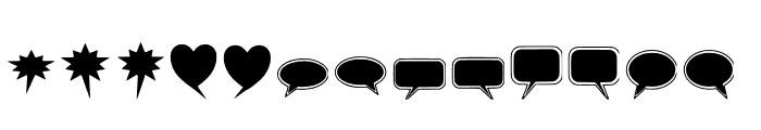solid-speech-bubbles-paul-tos Font UPPERCASE