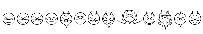 some devil faces Regular Font LOWERCASE