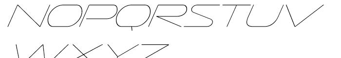 Sofachrome Ultra Light Italic Font UPPERCASE