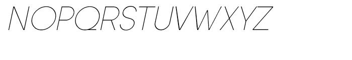 Sofia Extra Light Italic Font UPPERCASE