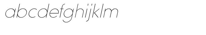 Sofia Extra Light Italic Font LOWERCASE