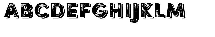 Sofia Rough Black Shadow One Font UPPERCASE