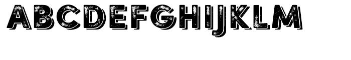 Sofia Rough Black Shadow One Font LOWERCASE