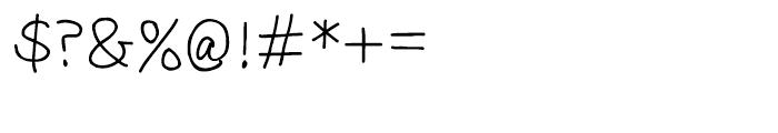 Sorbet Regular Font OTHER CHARS