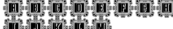 Southem Colonialist Decorative Lined Font UPPERCASE