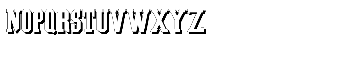 Southem Colonialist Shadow Font UPPERCASE