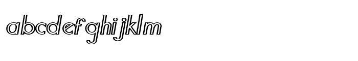 Southern Flight Outline Font LOWERCASE