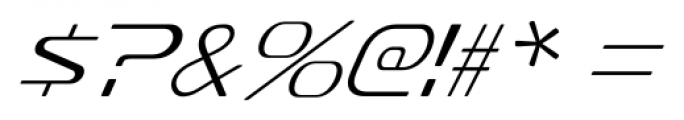 Sofachrome Extralight Italic Font OTHER CHARS