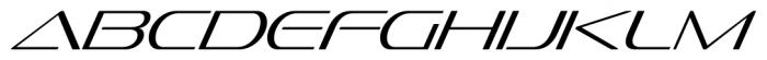 Sofachrome Extralight Italic Font UPPERCASE