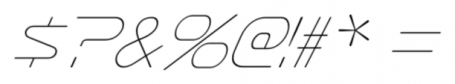Sofachrome Ultralight Italic Font OTHER CHARS