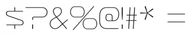 Sofachrome Ultralight Font OTHER CHARS