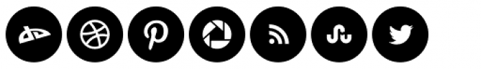 Social Networking Icons Minimal Font LOWERCASE