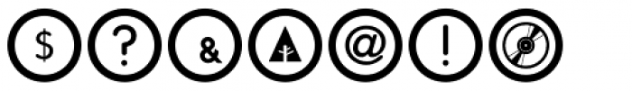 Social Networking Icons Outline Font OTHER CHARS