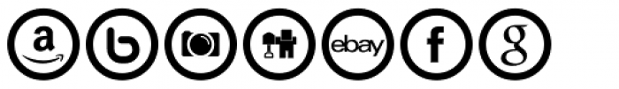 Social Networking Icons Outline Font LOWERCASE