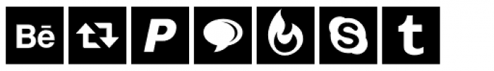 Social Networking Icons Square Font UPPERCASE