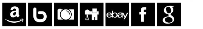 Social Networking Icons Square Font LOWERCASE
