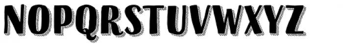 Sofa Sans Hand Black 3D Hatched Font UPPERCASE