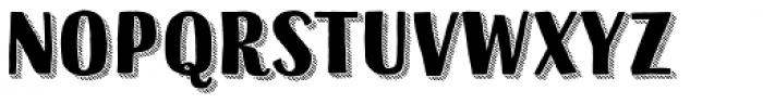 Sofa Sans Hand Black 3D Hatched Font LOWERCASE