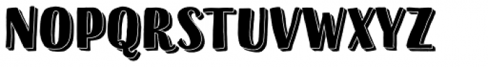 Sofa Sans Hand Black 3D Font UPPERCASE