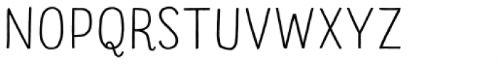 Sofa Sans Hand Monoline Display Font UPPERCASE