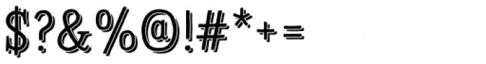 Sofa Serif Hand Mono Shadow Font OTHER CHARS