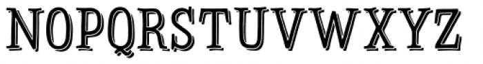 Sofa Serif Hand Mono Shadow Font LOWERCASE
