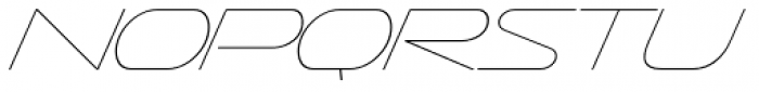 Sofachrome UltraLight Italic Font LOWERCASE