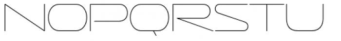 Sofachrome UltraLight Font UPPERCASE